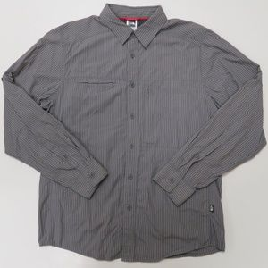 North Face Mens Vented Button Front Shirt Fishing